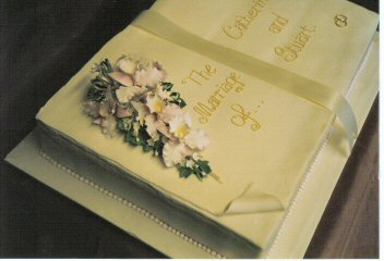 sugar orchids on open book